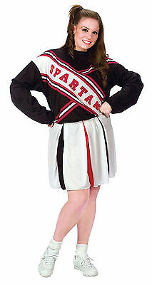 SNL Cheerleader Spartan Girl Adult Plus Womens Costume Cheering Halloween Party - Spartan Girl Costume