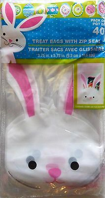 New 40 Easter Egg Chick Cellophane Treat Bags w Zip Seal ~ Bunny FREE SHIPPING](Easter Treat Bags)