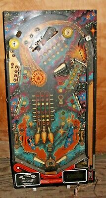 Original Stern Spot Meteor Target Pinball PLAYFIELD w/wiring harness + parts