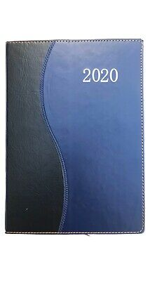 Daily 2020 Planner 7.5x10.5 Agenda Appointment Book Calendar - Blue Wave.