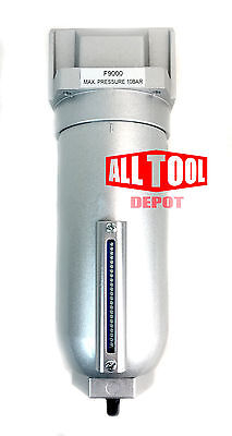 1 Inline Air Compressor Water Moisture Filter Trap Separator W Auto Drain