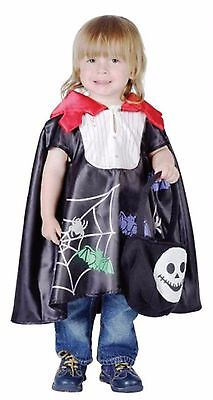 TODDLER VAMPIRE CAPE KIDS FANCY DRESS HALLOWEEN SCARY HORROR PARTY COSTUME  (Scary Toddler Costume)