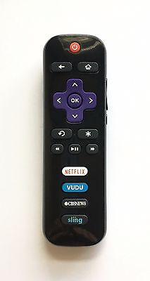 New USBRMT Replaced TCL ROKU TV Remote RC280-03 with CBSNEWS Sling Netflix Vudu