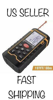 Dbpower Digital Laser Measure 197ft 60m Laser Distance Meter With Backlit Lcd
