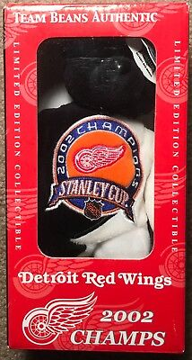 New Detroit Red Wings 2002 Team Beans Stanley Cup Champions NHL Yzerman Fun Toy