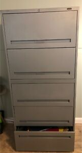 5 Drawer Teknion lateral file cabinet