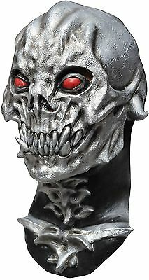 Halloween Red Skull Mask (Halloween RED EYES SKULL DESTROYER Adult Latex Deluxe Mask Ghoulish)