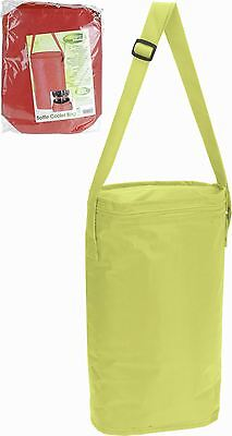6.5L Green Insulated 2 Bottles Cooler Bag Ice Box Summer Camping Picnic Coolbag
