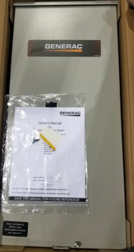 NEW RXSW200A3 200-Amp 240-Volt GENERAC Single-Phase Automatic Transfer Switch