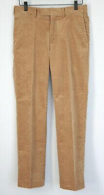 POLO RALPH LAUREN mens brown classic fit cotton corduroy dress pants 30/30 Mens Corduroy Dress Pants