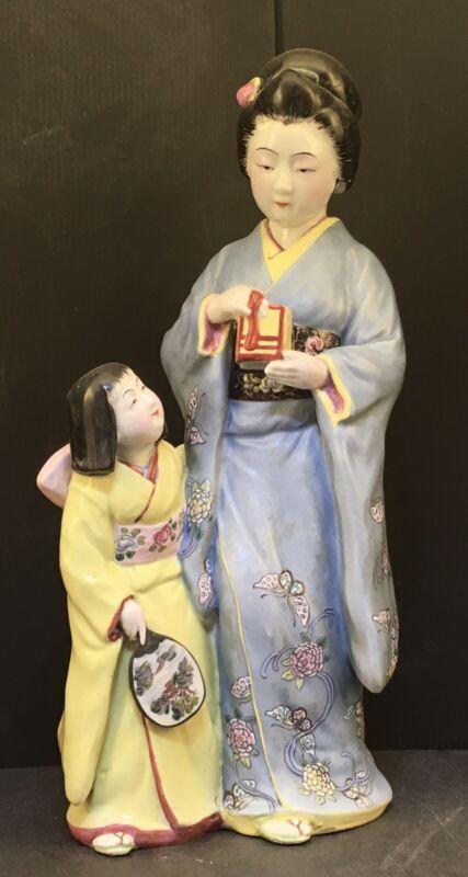 Beautiful Japanese Meiji Kutani Okimono - Aristocrats