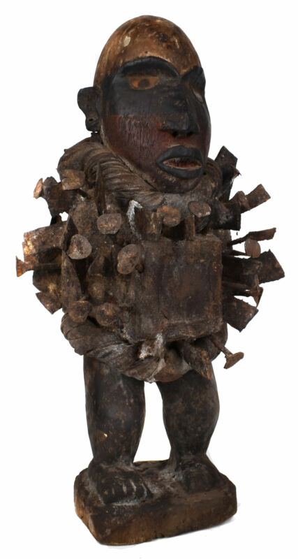 Bakongo Nkisi Power Figure Fetish African Art 20 Inch