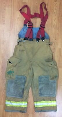 Womans Firefighter Bunker Turnout Pants W Suspenders 34 X 24 Globe