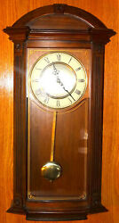 Bulova Clocks C4331 Hartwick 29 Inch Large Classic Walnut Pendulum Wall Clock