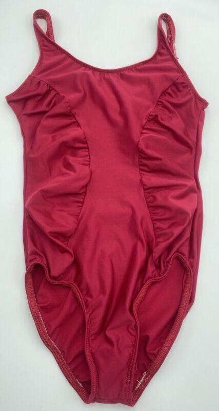 MOTIONWEAR Petite Adult PA Dance Gymnastics Red LEOTARD Sleeveless