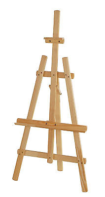 STUDIO EASEL 4ft (1250MM HIGH) ARTIST ART CRAFT DISPLAY - PINE WOOD Wooden
