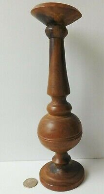 Antique vintage wooden candle stick 9.75