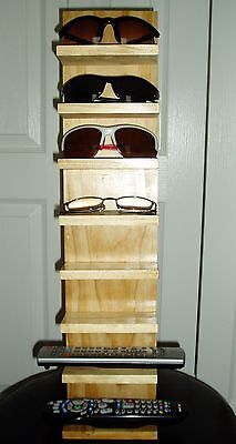 Eyeglass Sunglass Stand Rack Remotes Shelf Wood  Display Wooden 2' Handmade Pine for sale  Shipping to India