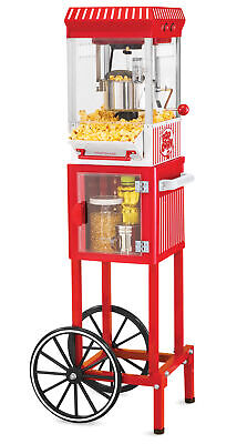 Old Time 45-inch Tall Vintage Collection 2.5-ounce 10-cup Kettle Popcorn Popper