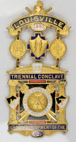 1901 Knights Templar. Louisville KY. Jewel. MR101