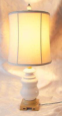 Table Lamp, Vintage Ceramic Lamp, Cast Iron Base, 25