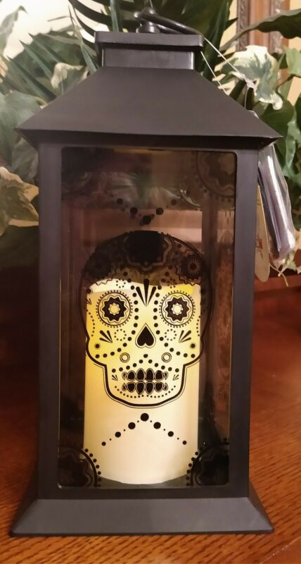 Halloween Lantern With Led Timer Candle
