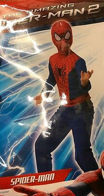 Amazing Spider-Man 2 Halloween Costume Marvel Comics Brand Size 8-10 New 610982 ()