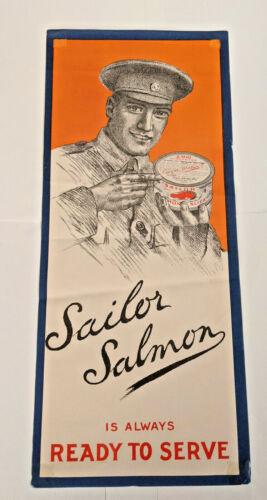 Sailor Salmon Window Sign WWII era British Naval Officer Angus Watson