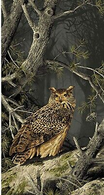 Owls Majestic Woods Wall Quilt Panel Fabric 100% Cotton Andover Kathy - Hall Cotton