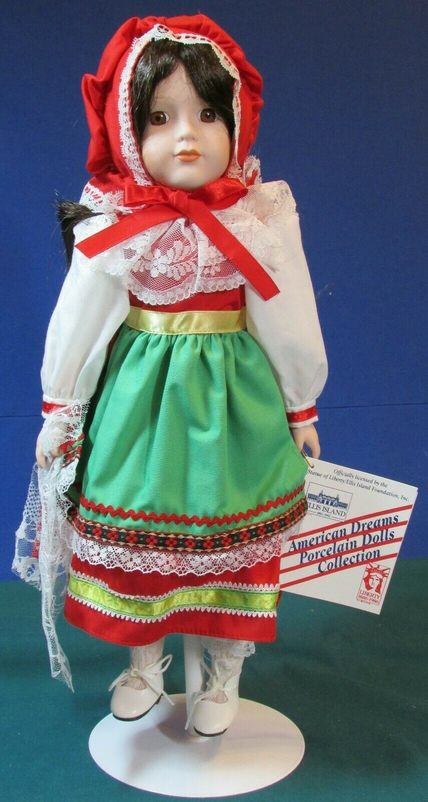 16 Anna Marie From Italy Musical Doll 1992 Exc Cond 100th Anniv - Ellis  - $12.99