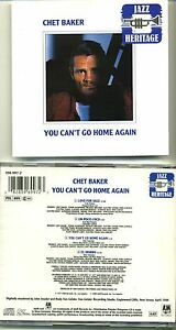 CHET BAKER - YOU CAN'T GO HOME AGAIN - Original 1989 JAZZ HERITAGE - RARE - Italia - Restituzione accettata SOLO per oggetti non conformi / danneggiati ----- Return accepted ONLY for Faulty products - Italia