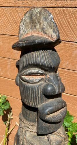 Old Songye Power or Fetish Figure Congo African Art - Bwadi bra Kifwebe? 28 inch
