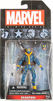 Marvel Universe Infinite Series Deadpool  Blue X Force Outfit    Hasbro