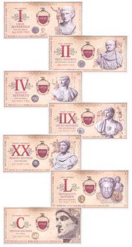 (2007) Roman Empire Fantasy Banknotes 7 Piece Set SKU47184