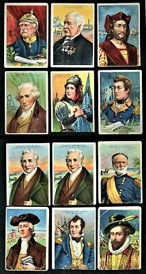 1911 T68 AMERICAN TOBACCO MINERS EXTRA HEROES OF HISTORY LOT OF 12