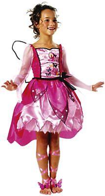 Kostüm Barbie Mariposa 3tlg., Größe 116 Schmetterling Fee Elfe - Mariposa Barbie Kostüm