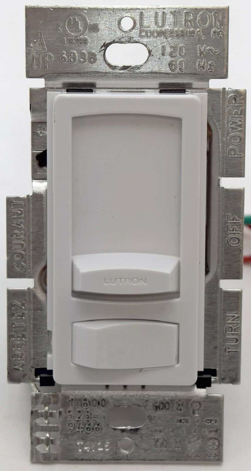Lutron Skylark Contour Ctcl 153p Single Pole 3 Way Dimmer Light Switch Black White Oem