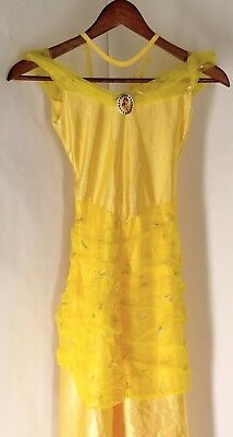 Belle Costume Dress Disney Princess size 4-6X small