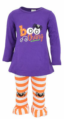 Girls Halloween Outfit with Spider Leggings Boutique Toddler Kids Clothes US Top