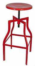 RRP$99 New Replica Turner Industrial Metal Bar Stools Red White Melbourne CBD Melbourne City Preview