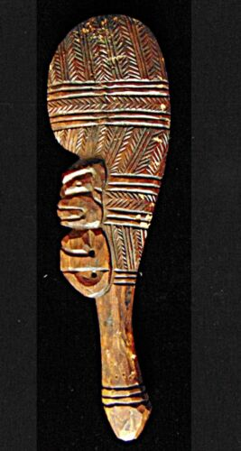 Antique African Wood War Hunting Paddle /Tool / Hand Carved