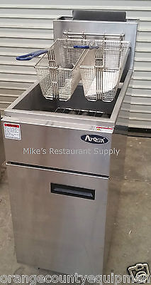 New Gas Deep Fryer Commercial Stainless Steel Commercial Atosa Atfs-40 2552 Nsf