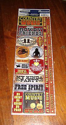 Reminisce Die Cut Sticker Sheet ~ Signature Series.   Country Music. Die Cut Sticker Sheet