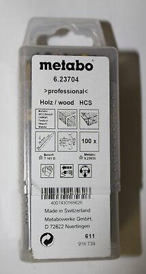 Metabo 100 Stichsägeblätter,Holz,profess. 74/ 4,0 mm (623704000)