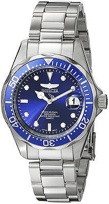 Invicta Reloj Hombre Bracelet Watch Pulsera Man Blue Face Steel Case Hand Silver