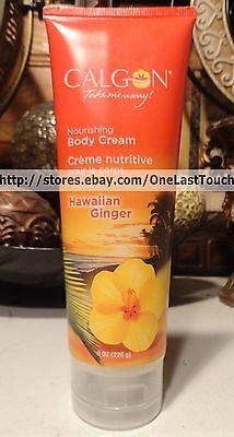 CALGON* 8 oz Tube HAWAIIAN GINGER Nourishing BODY CREAM Lotion SHEA Ship 3@$7 (Hawaiian Ginger Body Lotion)