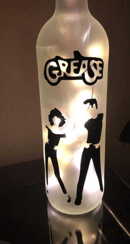 Grease John Travolta Olivia Newton-John LED Light Up Bottle Fab Film Memorabilia