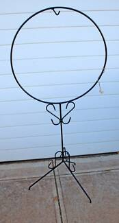 VINTAGE WROUGHT IRON PLANTERS AND BIRDCAGE HOLDERS