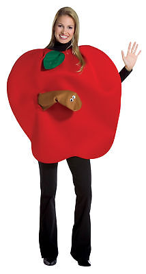 Apple Clever Adult Women's Costume Tunic With Worm Halloween Rasta Imposta - Womens Halloween Costumes Clever