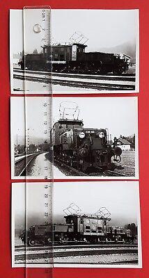 3 x Eisenbahn Foto Abzüge? E-Lok Lokomotive E89 102      ( 24155